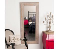 Espejo lacado de madera de paulonia Al. 130cm NATURA