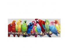 Lienzo loros multicolor 70 × 200cm LUCIANA