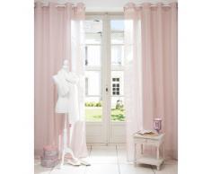 Cortina de ojales de tela rosa 140 x 250cm BEAUNE
