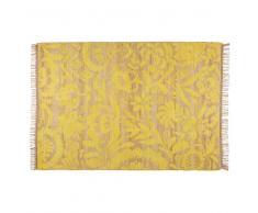Alfombra de yute y algodón amarillo mostaza 140x200 cm LUKILA