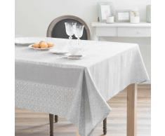 Mantel de algodón y lino gris 170 x 250 cm LISBONNE