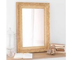 Espejo de madera de paulonia dorado Al. 70 cm VALENTINE