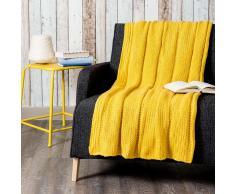 Colcha de punto amarillo 127 x 152cm KERNEVEL
