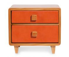 Joyero con 2 cajones naranja VINTAGE BEDSIDE