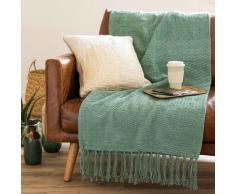 Colcha de algodón verde 180x240