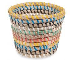 Maceta de fibra multicolor H.12 cm CALIENTE