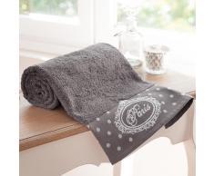 Toalla de baño gris de algodón 50 × 100cm PARIS