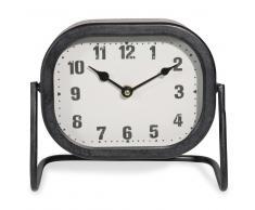 Reloj de sobremesa de metal 23x20cm HORBEC