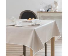 Mantel engomado de algodón beige 140 x 140 cm CAMILLE
