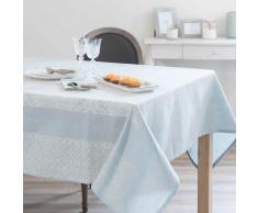 Mantel de algodón y lino azul 170 x 250 cm LISBONNE