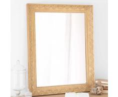 Espejo de madera de paulonia dorado Al. 90 cm VALENTINE