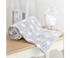 Toalla de baño gris de algodón 100 × 150cm NORDIC