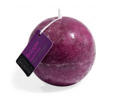 Vela bola perfumada ciruela Al. 9 cm