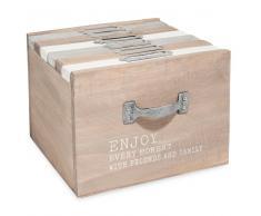 Caja de 6 álbumes de fotos de madera 13 x 17 cm ENJOY