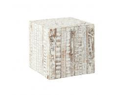 Mesa auxiliar de madera blanca An. 35cm PATRAS