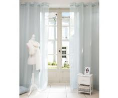 Cortina de ojales de tela azul 140 x 250cm BEAUNE