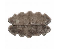 Alfombra beis de piel de oveja 110 × 180cm