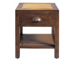 Mesita de noche con cajón de teca maciza An. 40 cm Bamboo