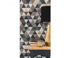 Papel pintado no tejido con motivos de triángulos H 1005 x L 53 cm URBAN LAB