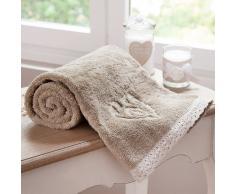 Toalla de tocador beis de algodón 30 × 50 cm CAMILLE
