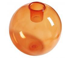 Candelabro de cristal tintado naranja BUBBLE POP