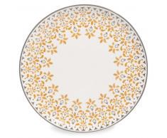 Plato llano de loza amarillo mostaza D 27 cm GIPSY