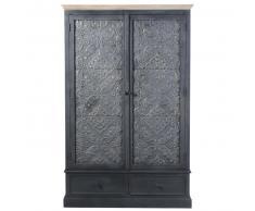 Armario gris oscuro con 2 puertas y 2 cajones Wabi