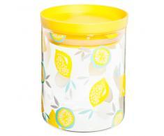 Tarro de cristal amarillo con motivos MIX CITRON