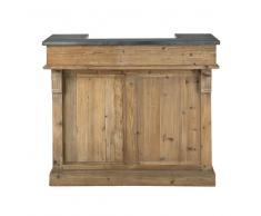 Mueble bar de madera reciclada de colores An. 120 cm Pagnol