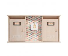 Caja de llaves + buzón de madera H 25 cm SEVENTIES