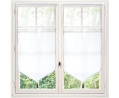 Cortina corta de algodón blanco 60 x 120 cm ELOISE