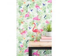 Papel pintado no tejido con impresión tropical H 1005 x L 53 cm ACAPULCO