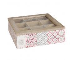 Caja de té con motivos de baldosas de cemento