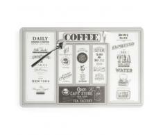 Mantel individual de plástico 28 x 43 cm CAFÉ STORE