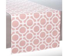 Camino de mesa de algodón rosa L 150 cm VERA