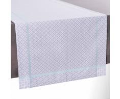 Camino de mesa de tela gris An. 150 cm LINA