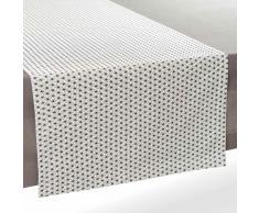 Camino de mesa de algodón blanco/negro 180 cm GEOMETRIX