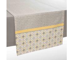 Camino de mesa de algodón gris/amarillo L 150 cm VIZELA