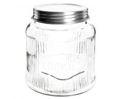 Tarro de galletas de cristal con tapa de metal RETRO