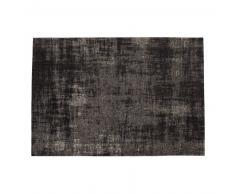 Alfombra negra de algodón 140× 200cm FEEL