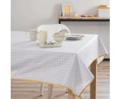 Mantel engomado de algodón gris/amarillo 140 x 300cm PORTIMAO