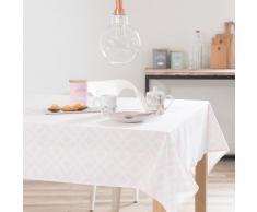 Mantel cuadrado de algodón rosa 150 x 150 cm VERA