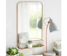 Espejo de metal dorado 35x57 cm DURANGO