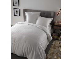 Juego de cama 220 × 240cm de algodón blanco CHLOÉ