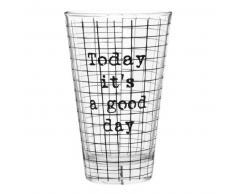 Vaso de cristal estampado de baldosas