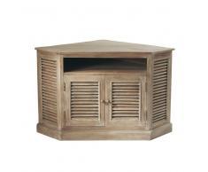 Mueble de TV esquinero de mango gris An. 75 cm Persiennes
