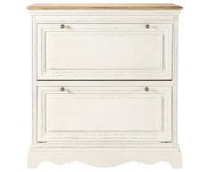 Mueble zapatero blanco de madera An. 93 cm Léontine