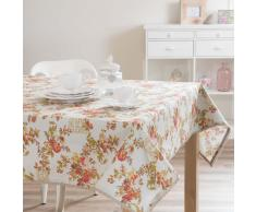 Mantel de flores de algodón 150 x 250 cm FLORA