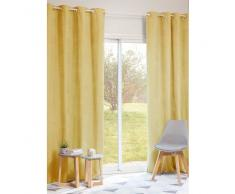 Cortina de ojales amarilla 140 x 250 cm JOBS