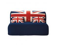 Funda de algodón para sofá-cama acordeón estampada con la bandera inglesa Union Jack Elliot